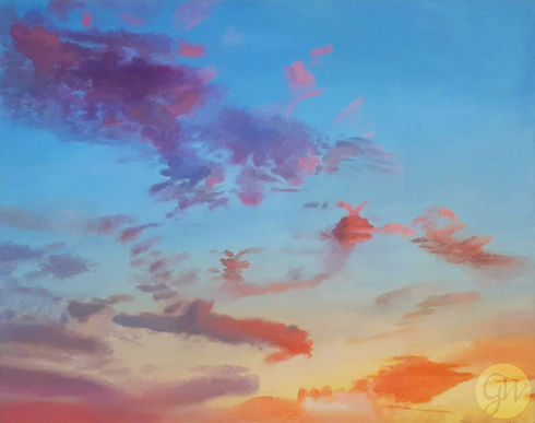 Sky After Sunset oil painting