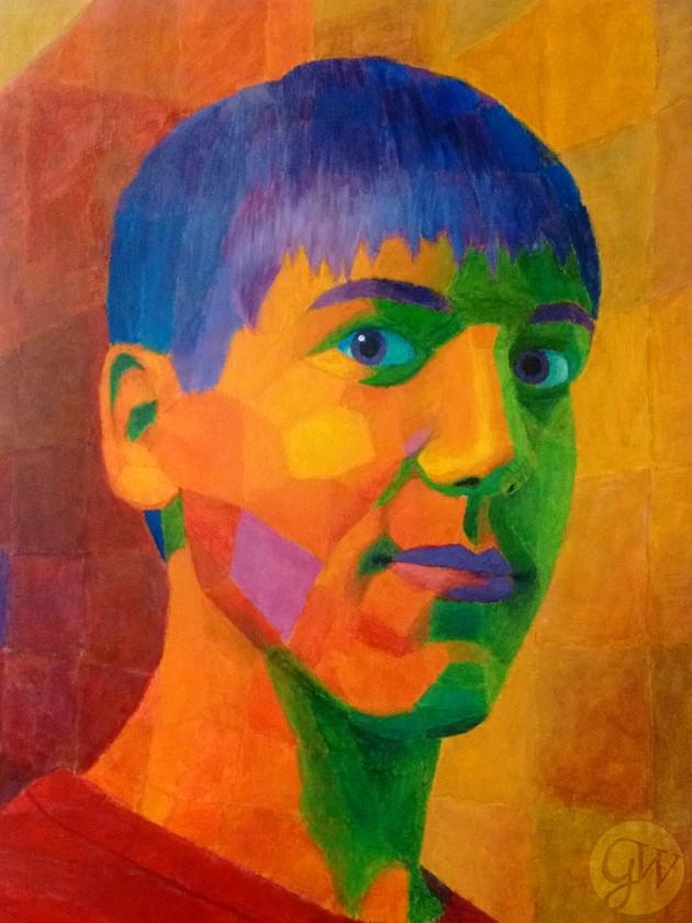 Faceted Self-Portrait
