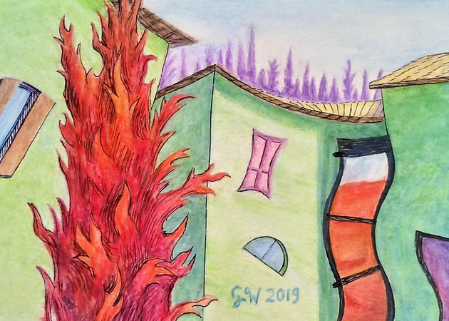 Tuscan Village Abstraction