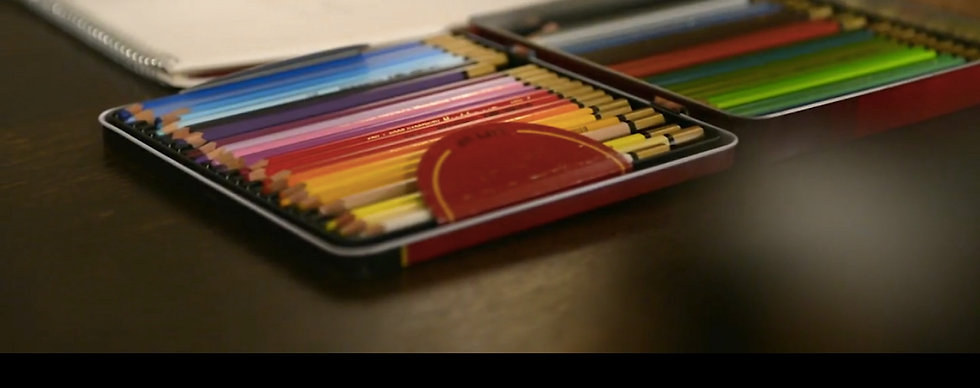 Pencil crayons for detailed drawings