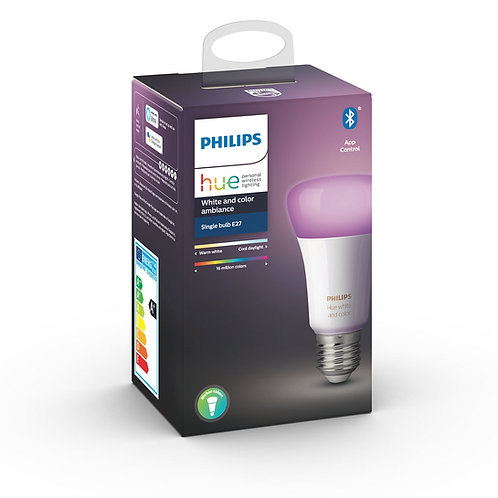 AMPOLLETA E27 PHILIPS HUE COLOR BLUETOOTH
