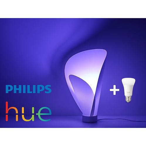 LAMPARA DE MESA PHILIPS + AMPOLLETA COLOR PHILIPS HUE BLUETOOTH