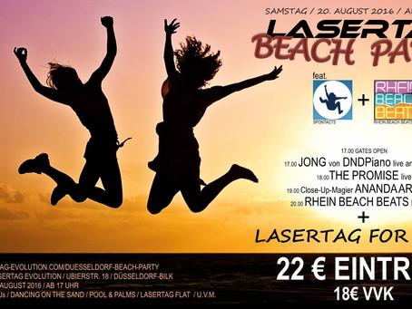 Tanzt im Sand und spielt LaserTag for free!
