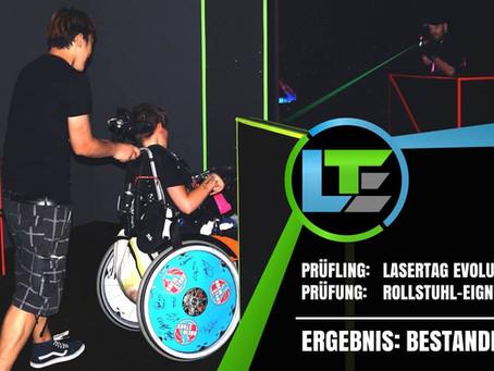 LaserTag Arena Rollstuhl-Prüfung