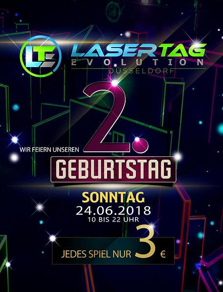 Lasertag Düsseldorf Geburtstag 2018