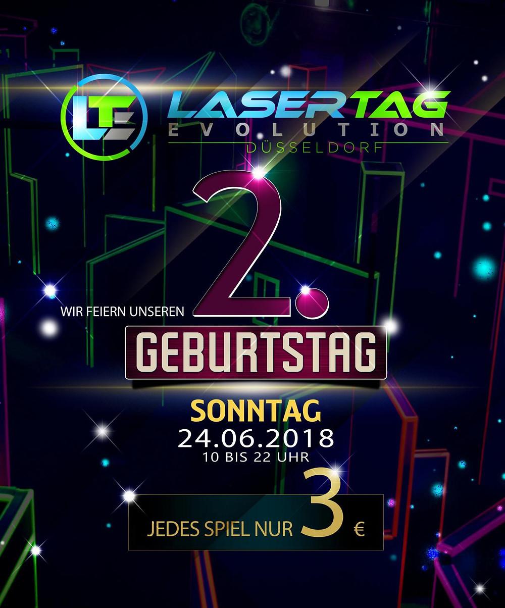 2. Geburtstag Lasertag Düsseldorf