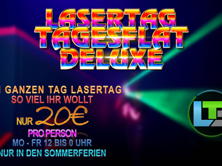 Sommerferien Angebot: LaserTag Tagesflat Deluxe