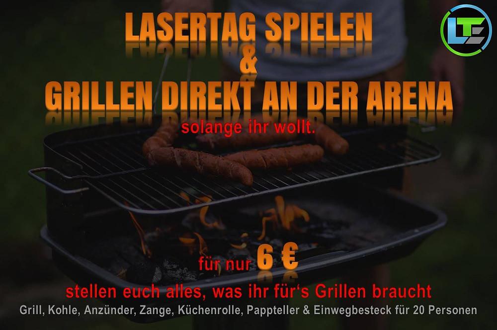 Grillen in Düsseldorf und LaserTag spielen
