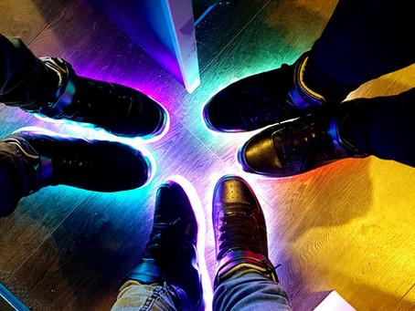 Shining feet