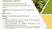Serie de seminarios virtuales - Resistencia a herbicidas en malezas asociadas al cultivo de arroz