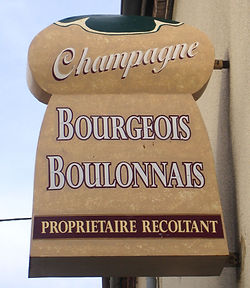 Enseigne Champagne Bourgeois-Boulonnais