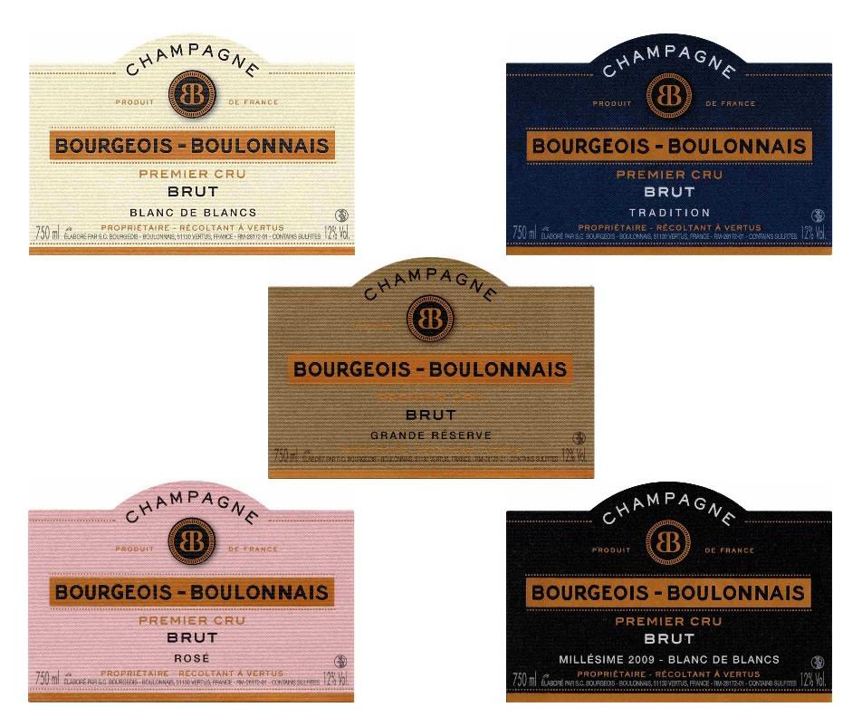 Nouvelles étiquettes du Champagne Bourgeois-Boulonnais premier cru