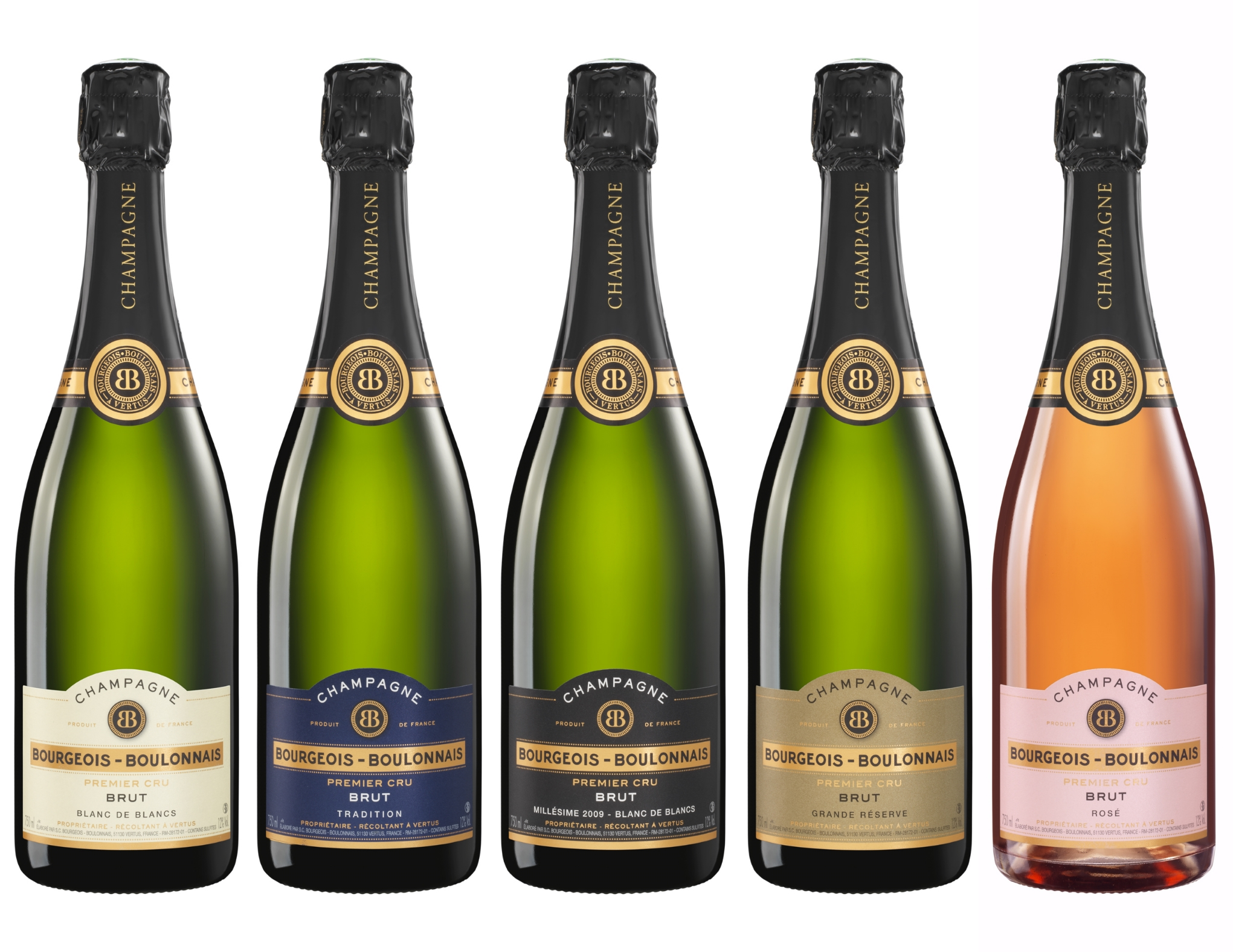 nouvelles bouteilles de champagne