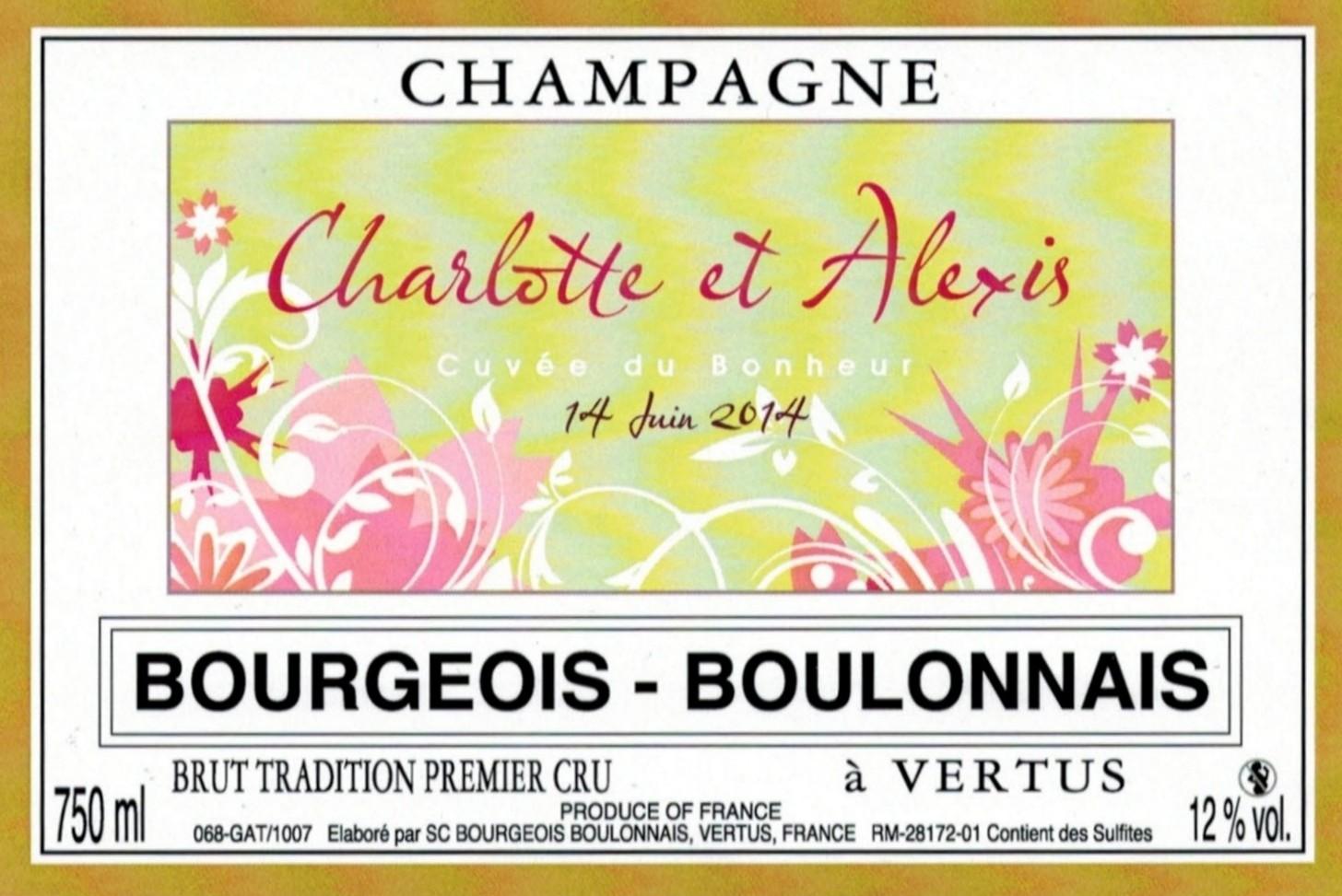 Etiquette mariage Charlotte & Alexis