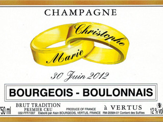 Pour votre mariage, personnalisez vos bouteilles de champagne