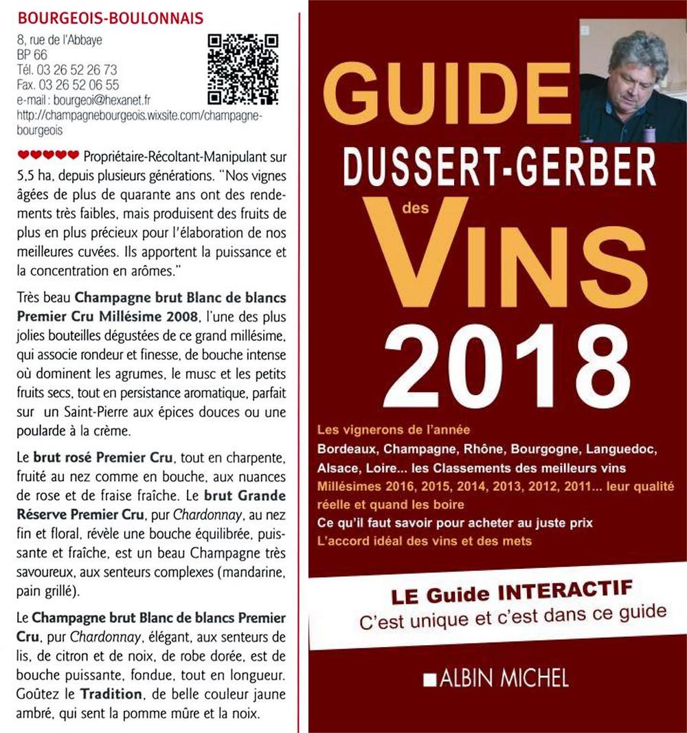 Guide Dussert-Gerber champagne Bourgeois-Boulonnais