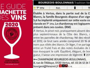 Guide Hachette des Vins 2020 : Brut Tradition premier cru