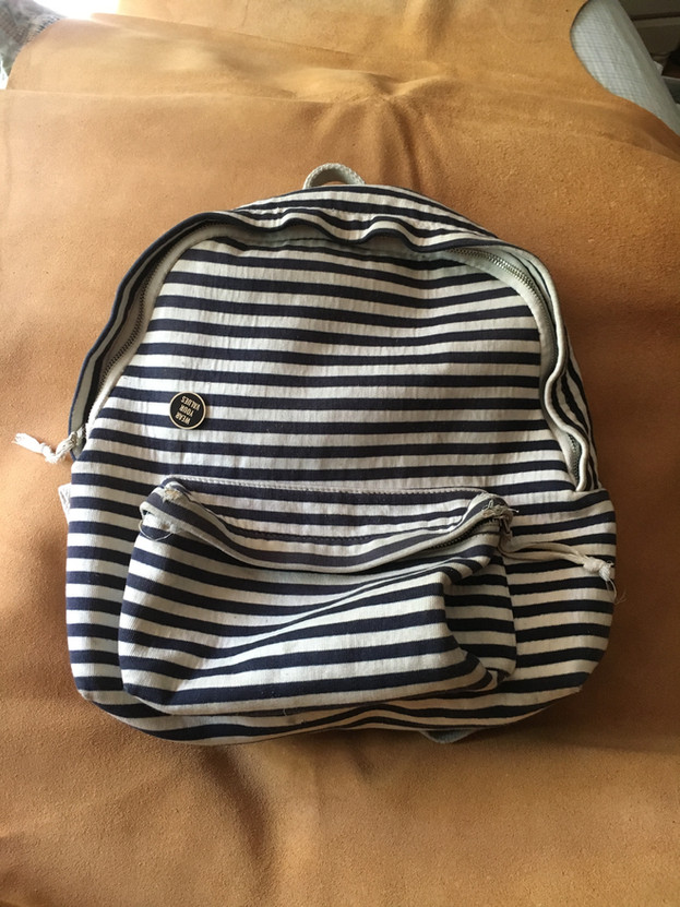Striped Backpack BEFORE