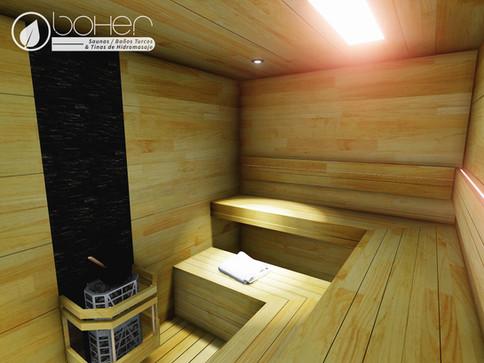 Sauna a Medida en Panel de Pino Caribe