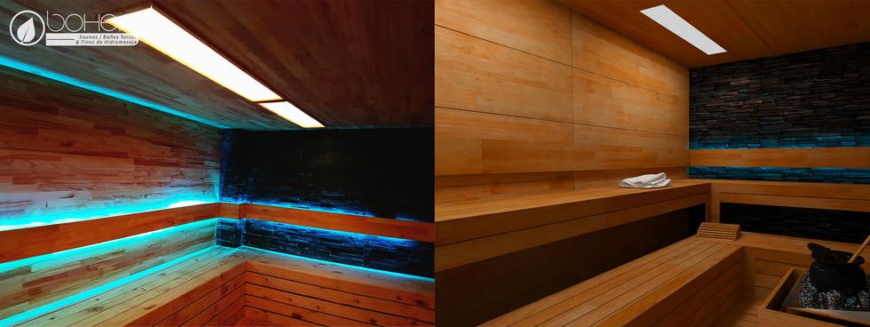 Sauna a Medida en Paneles de Pino Caribe