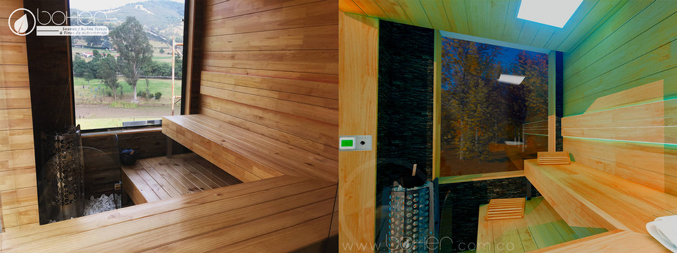 Sauna en Paneles de Pino Caribe