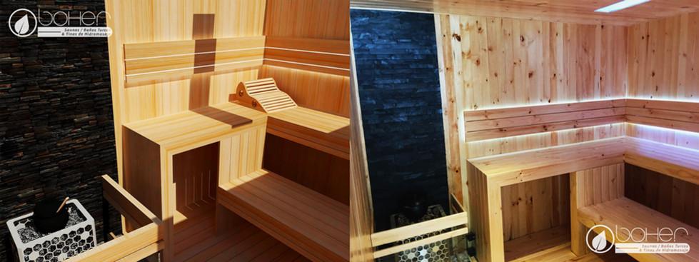 Sauna a Medida en Listones de Pino Blanco