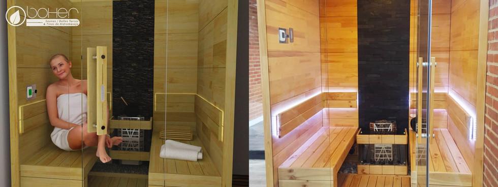 Sauna Portátil en Paneles de Pino Caribe