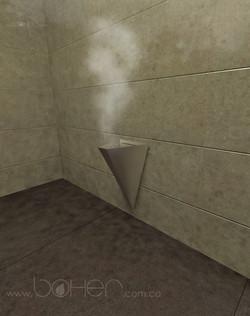 Boher salida de vapor caldera de vap