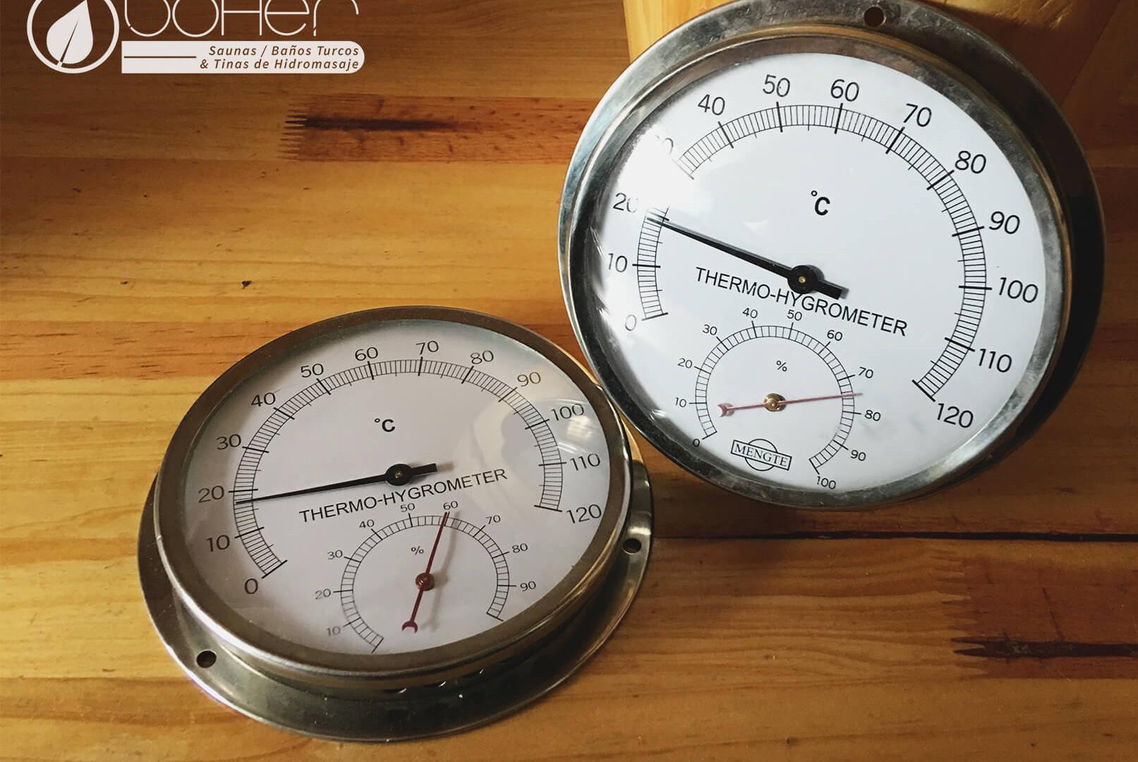 Termohigrómetro para Sauna
