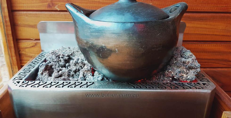 Olla y Cucharón - Piedras para Sauna