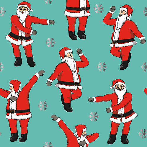 Flossing/ Dabbing Santa- Wrapping Paper