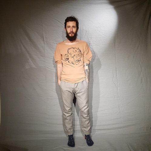 Blusa Molusco com pintura da Marlize