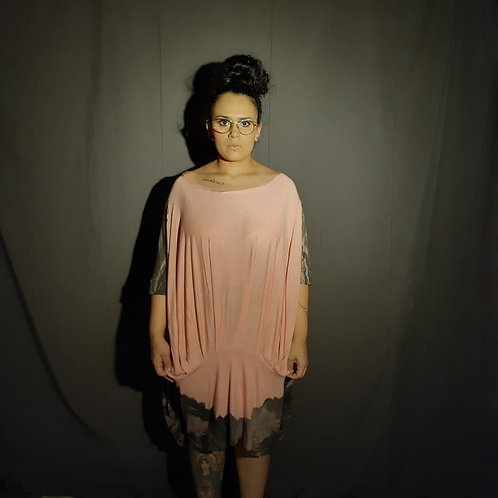 Vestido Fértil de malha tinturada
