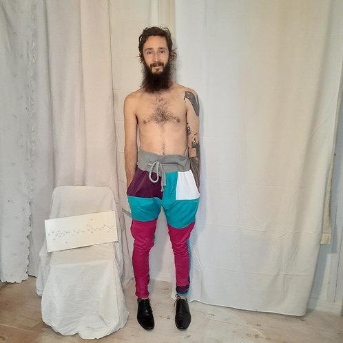 Calça retalhos lycra