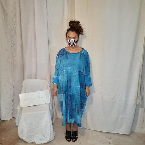Vestido azul cerúleo