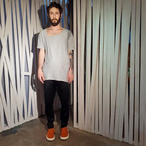 blusa decote assimétrico