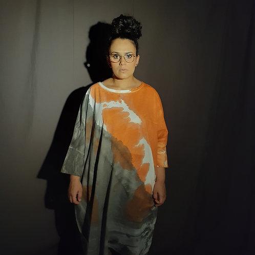 Vestido membrana laranja
