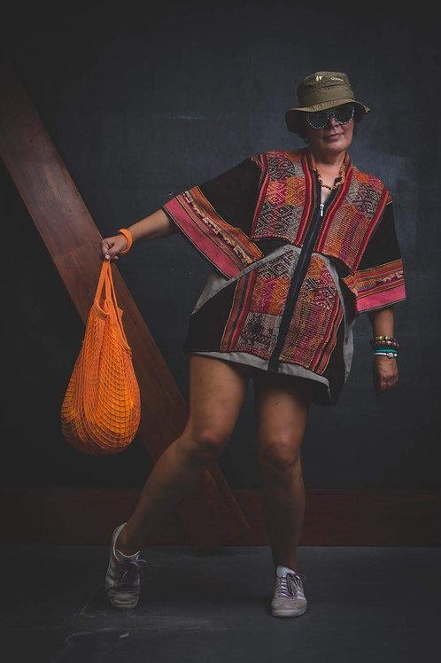 Casaco Apache Upcycling | Projeto Remando Para a Vida