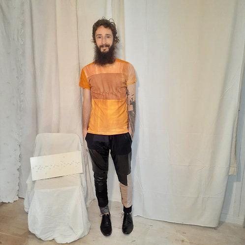 Camiseta de malha emendada