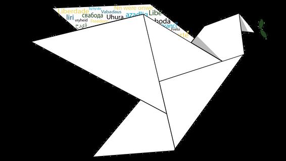 Origami bird