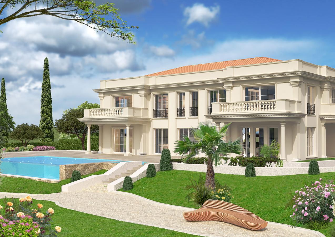 3D extérieure - Villa neuve - Roquebrune Cap Martin (06) - 2019 par Bureau des Perspectives 3D