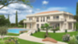 3D extérieure - Villa neuve - Roquebrune