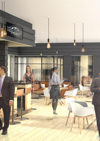 3D intérieure - Bar Richard Café à Asnieres (92) - 2018 par Bureau des Perspectives 3D