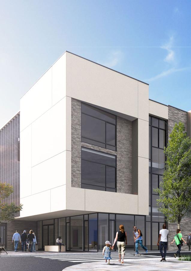 3D extérieure - Collège à Elbeuf (76) - 2019 par Bureau des Perspectives 3D
