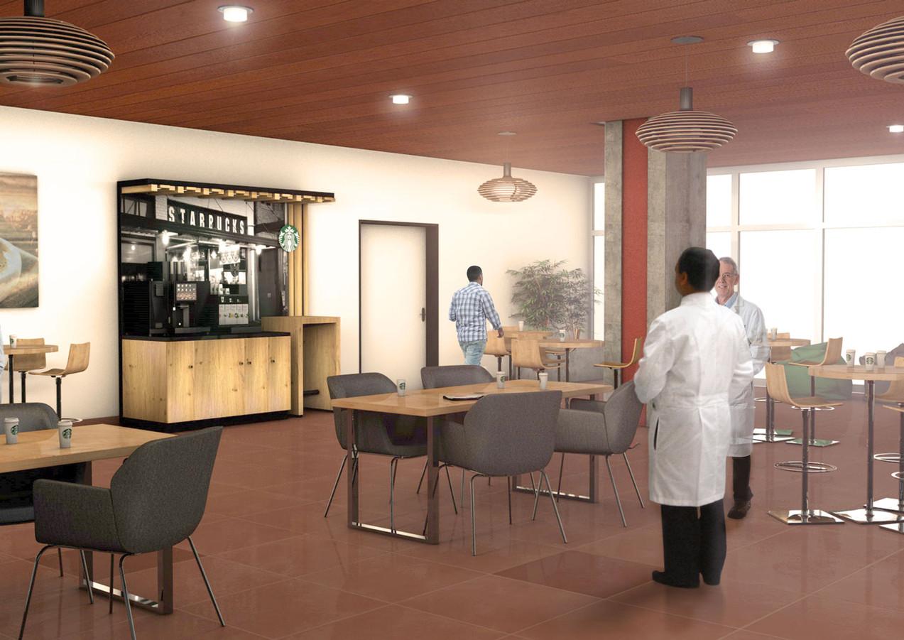 3D intérieure - Starbucks Pause Chu Toulouse (31) - 2018 par Bureau des Perspectives 3D