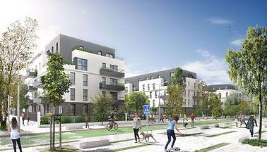 3D extérieure - Programme Immobilier à V