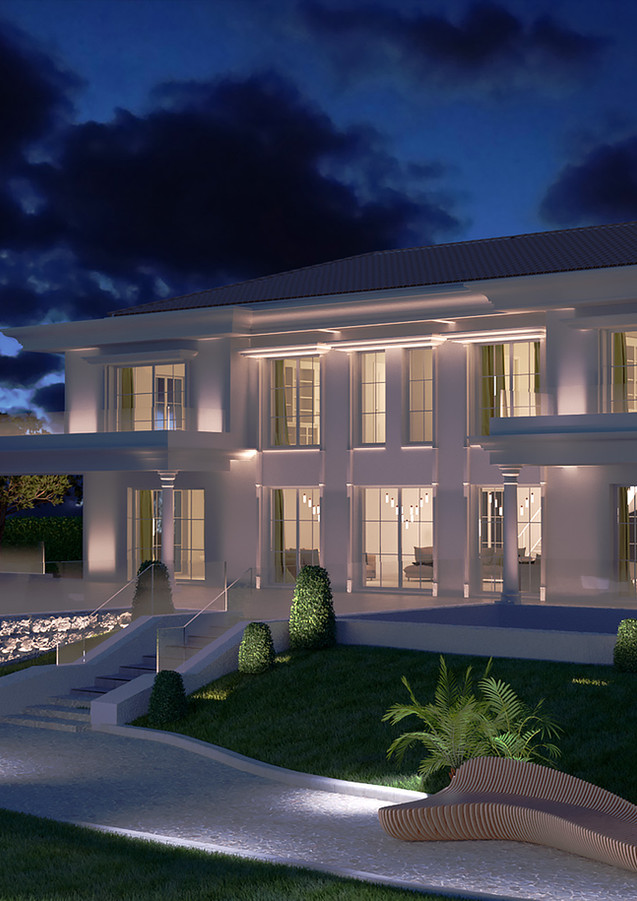 3D extérieure - Villa neuf à Roquebrune Cap Martin (06) - 2019 par Bureau des Perspectives 3D