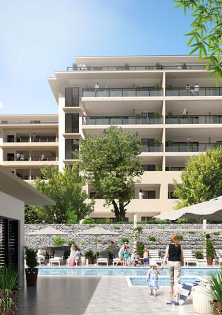 3D extérieure - Programme immobilier à Toulon (83) - 2018 par Bureau des Perspectives 3D