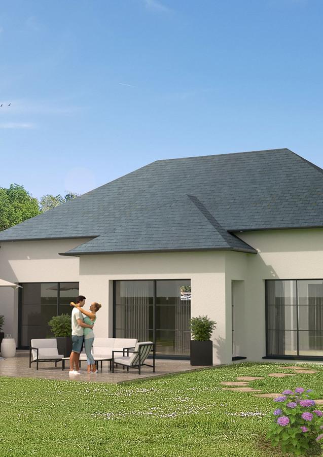3D extérieure - Résidence neuve Granville (50) - 2019 par Bureau des Perspectives 3D