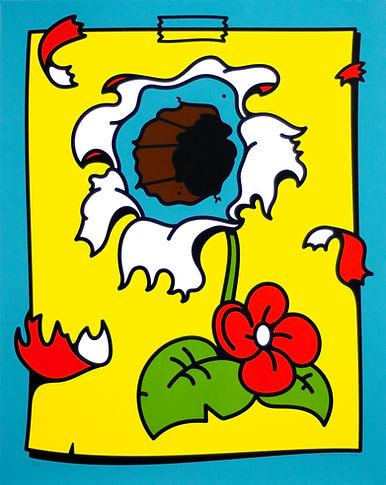 dead flower screen print illustration by Mikko Heino